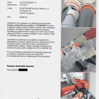 Elektroinstalace vrzal - certifikace - Systém protipožární ochrany