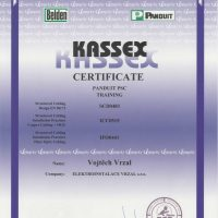 Elektroinstalace vrzal - certifikace - Kassex