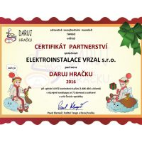 Elektroinstalace vrzal - podporujeme - daruj hračku