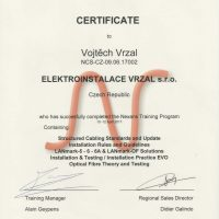 Elektroinstalace vrzal - certifikace - Nexans